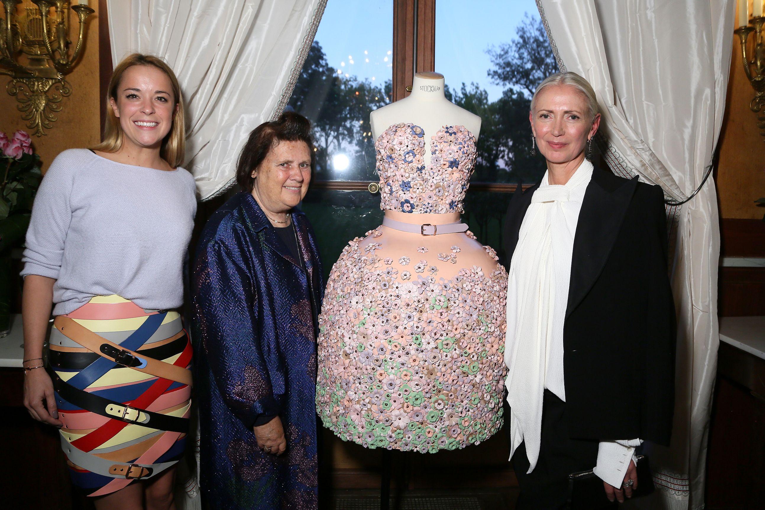 A designer, Suzy Menkes and Christiane Arp attend Der Berliner Mode Salon