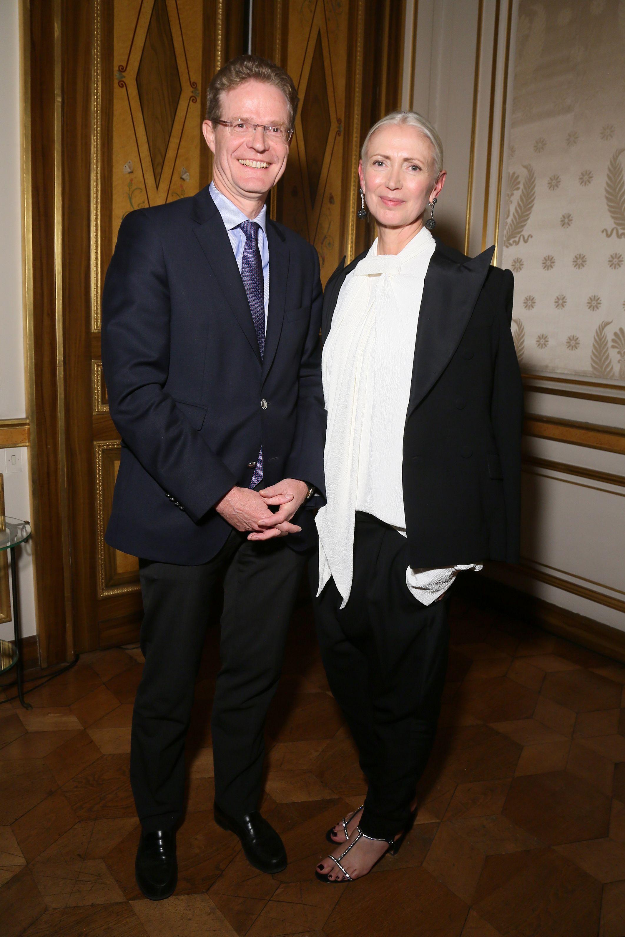 Nikolaus Meyer-Landrut Ambassador of the Federal Republic of Germany and Christiane Arp attend Der Berliner Mode Salon
